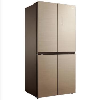 美的(Midea)456升十字对开门冰箱 风冷无霜 玻璃面板家用冰箱节凯撒金 BCD-456WGM